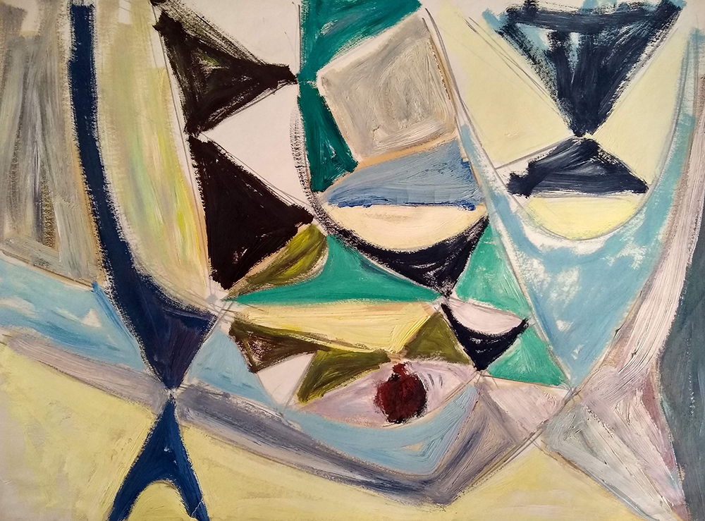 Untitled  , Oil on paper, c. 1947, 17 3/4 x 23 3/4 inches