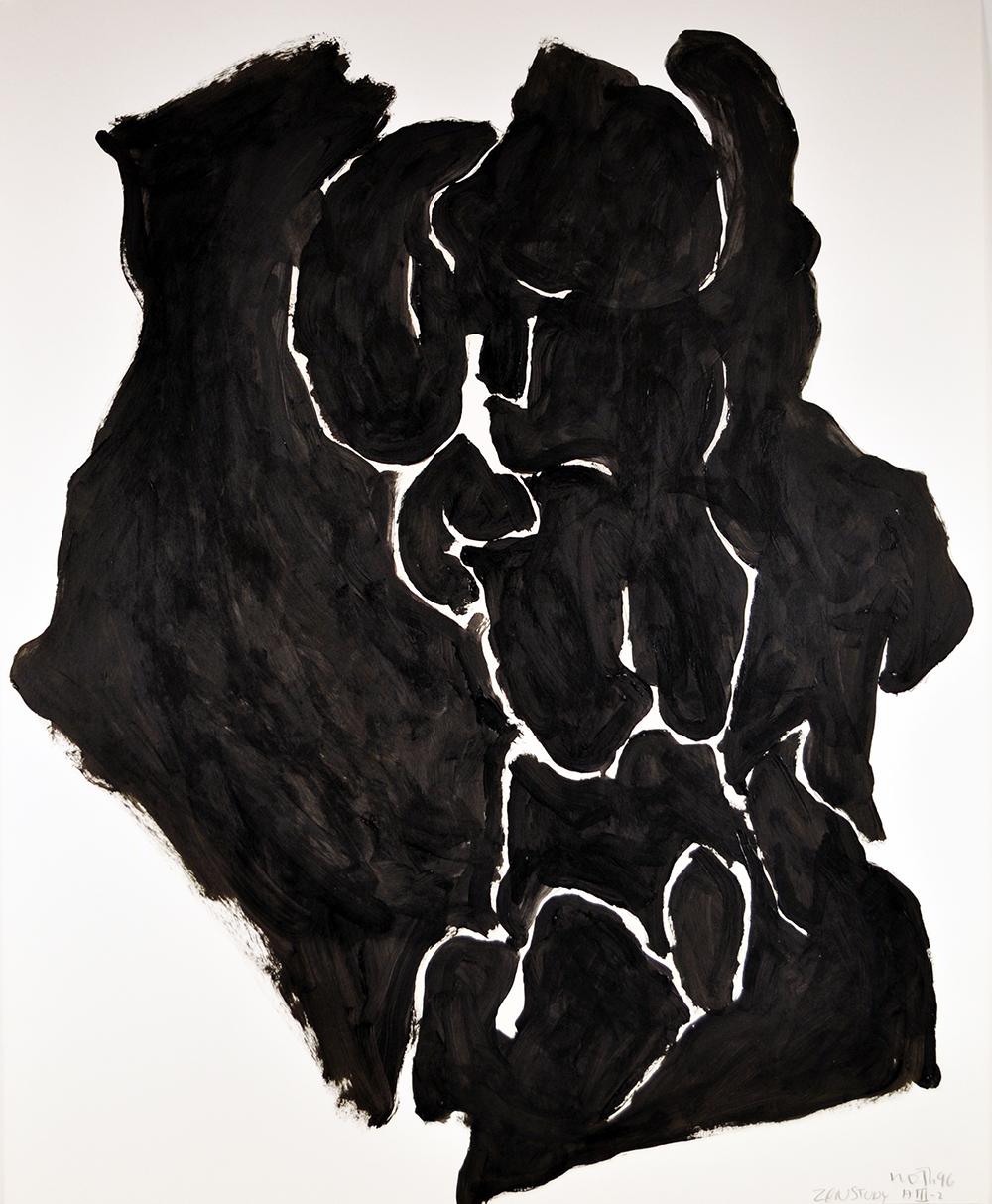 #421 Zen Study AIII-2,   Acrylic on paper, 1996, 40 x 32 inches