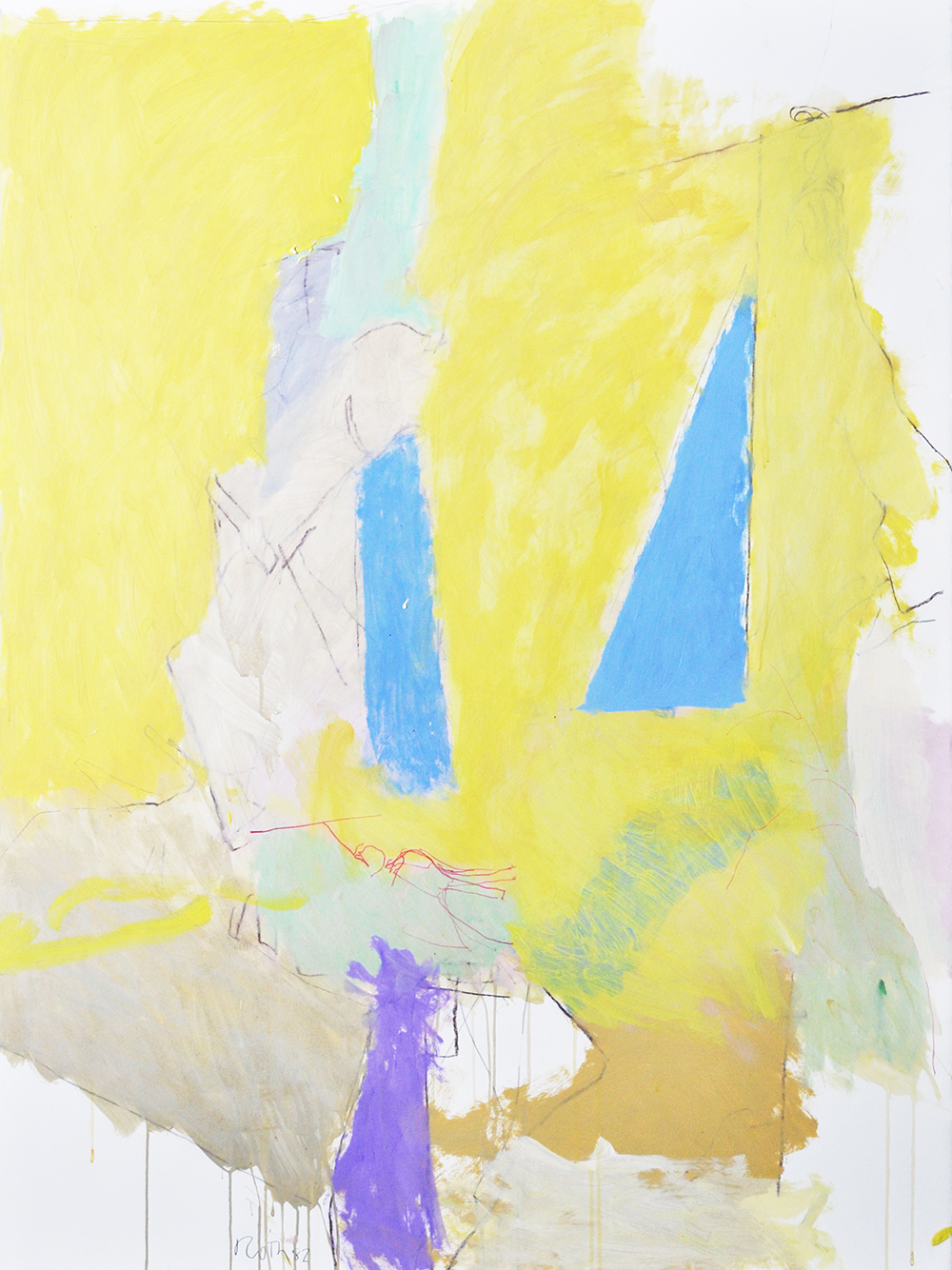#499 Untitled,   Acrylic on paper, 1982, 50 x 38 1/2 inches