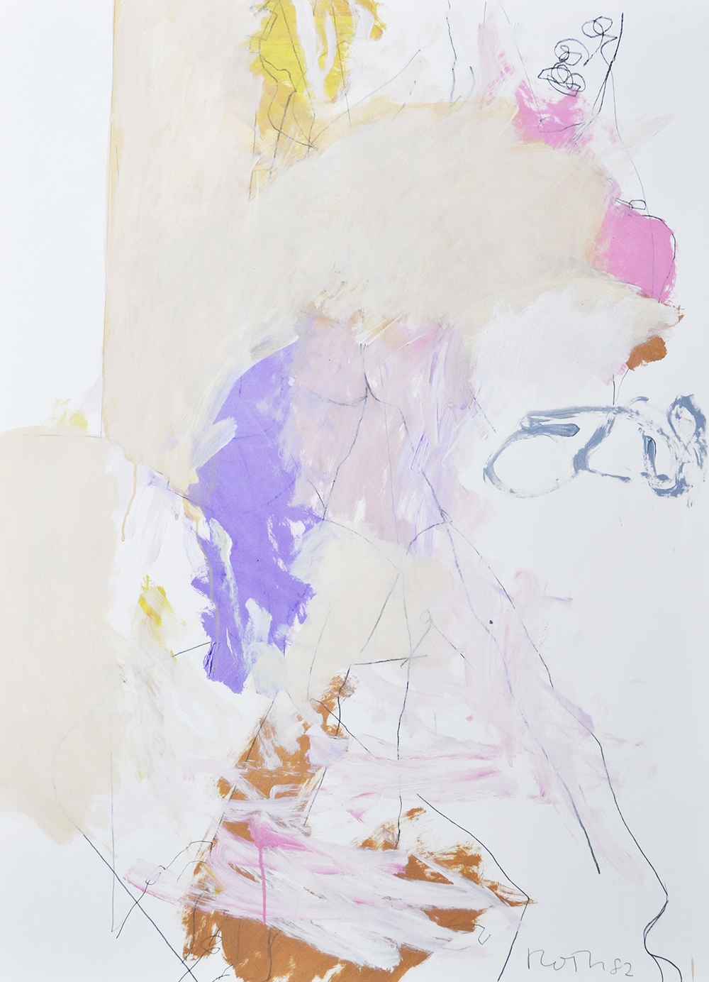 #507 Untitled,   Acrylic on paper, 1982, 50 x 38 1/2 inches