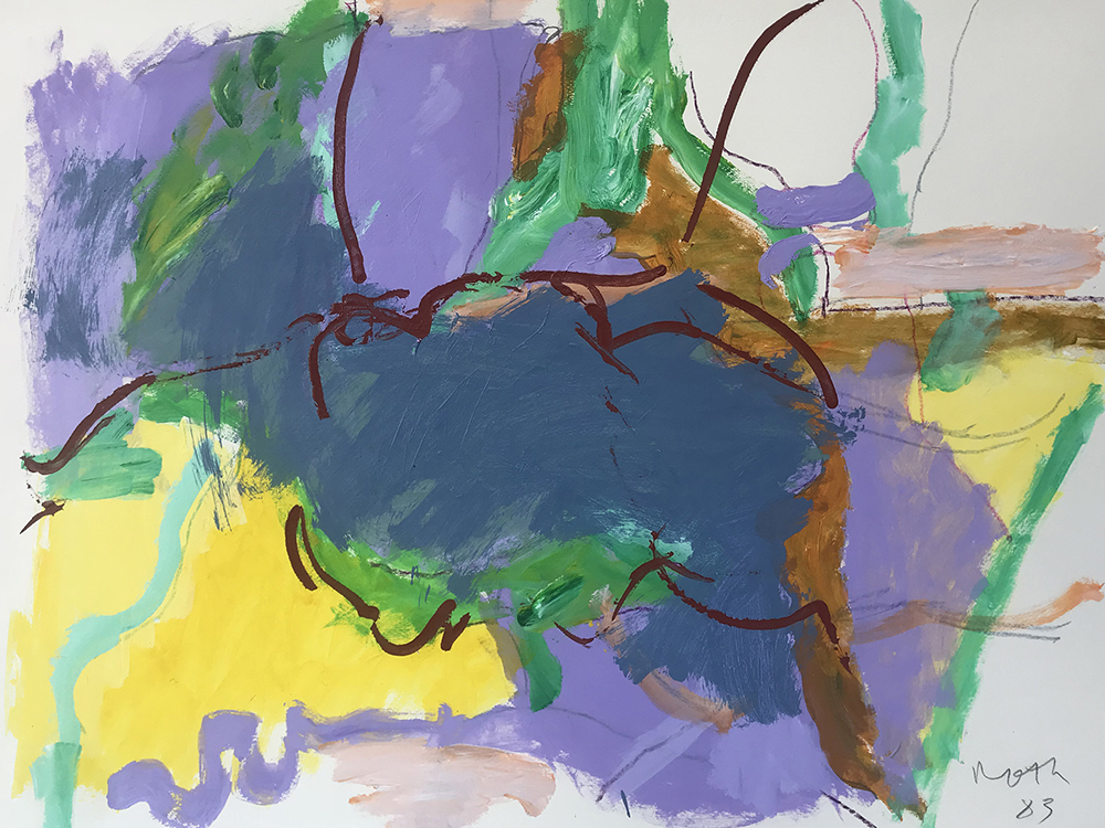#2419 Untitled,   Acrylic on paper, 1983, 22 1/2 x 30 1/2 inches