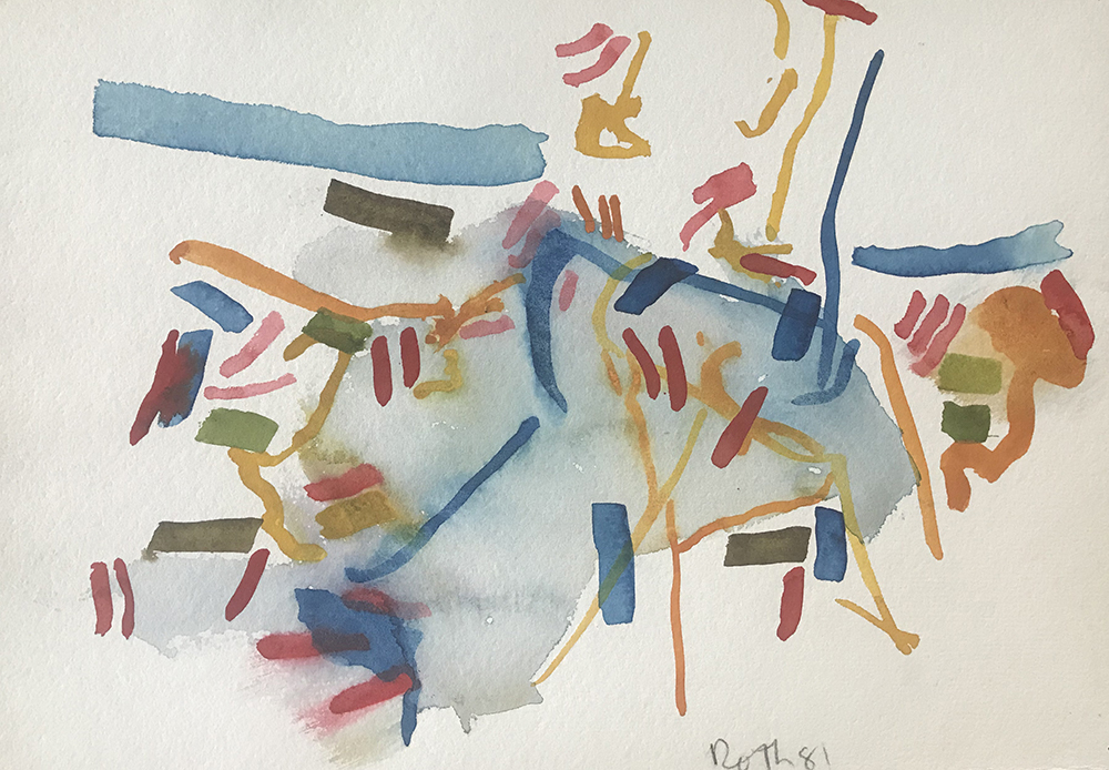 #2626 Untitled,   Watercolor on paper, 1981, 8 x 11 inches