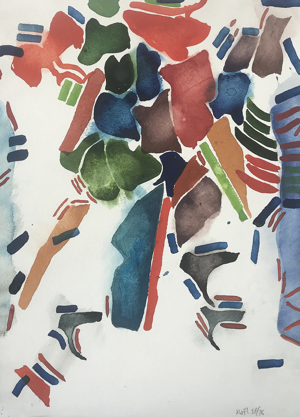#2652 Untitled,   Watercolor on paper, 1981, 15 1/2 x 11 1/2 inches