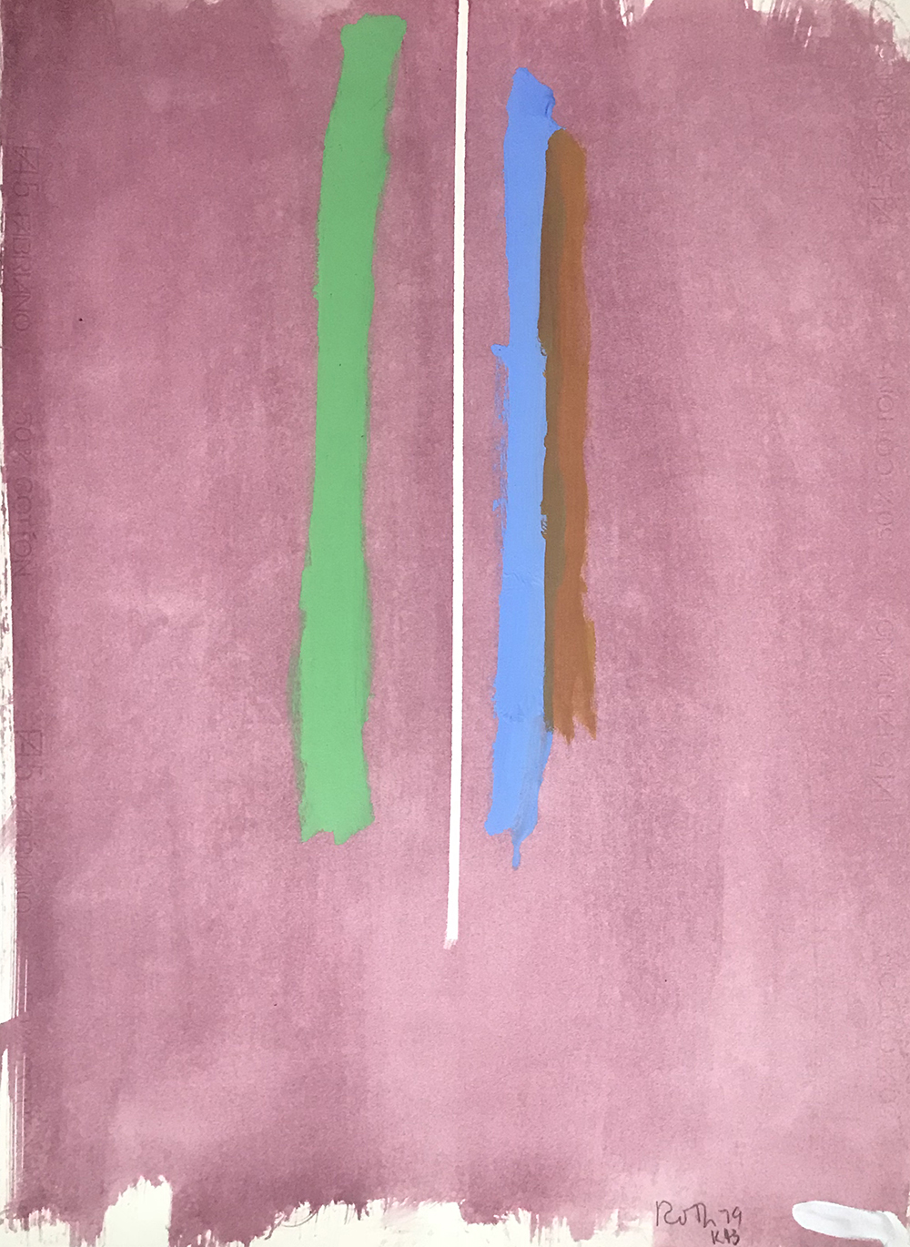 #2670 Untitled,   Acrylic on paper, 1979, 30 x 21 1/2 inches