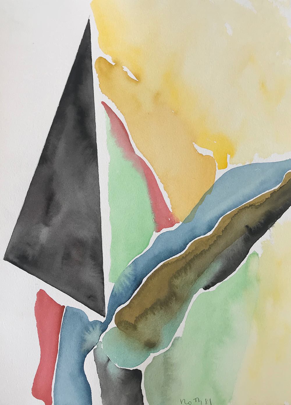 #2876 Untitled,   Watercolor on paper, 1981, 15 1/4 x 11 inches