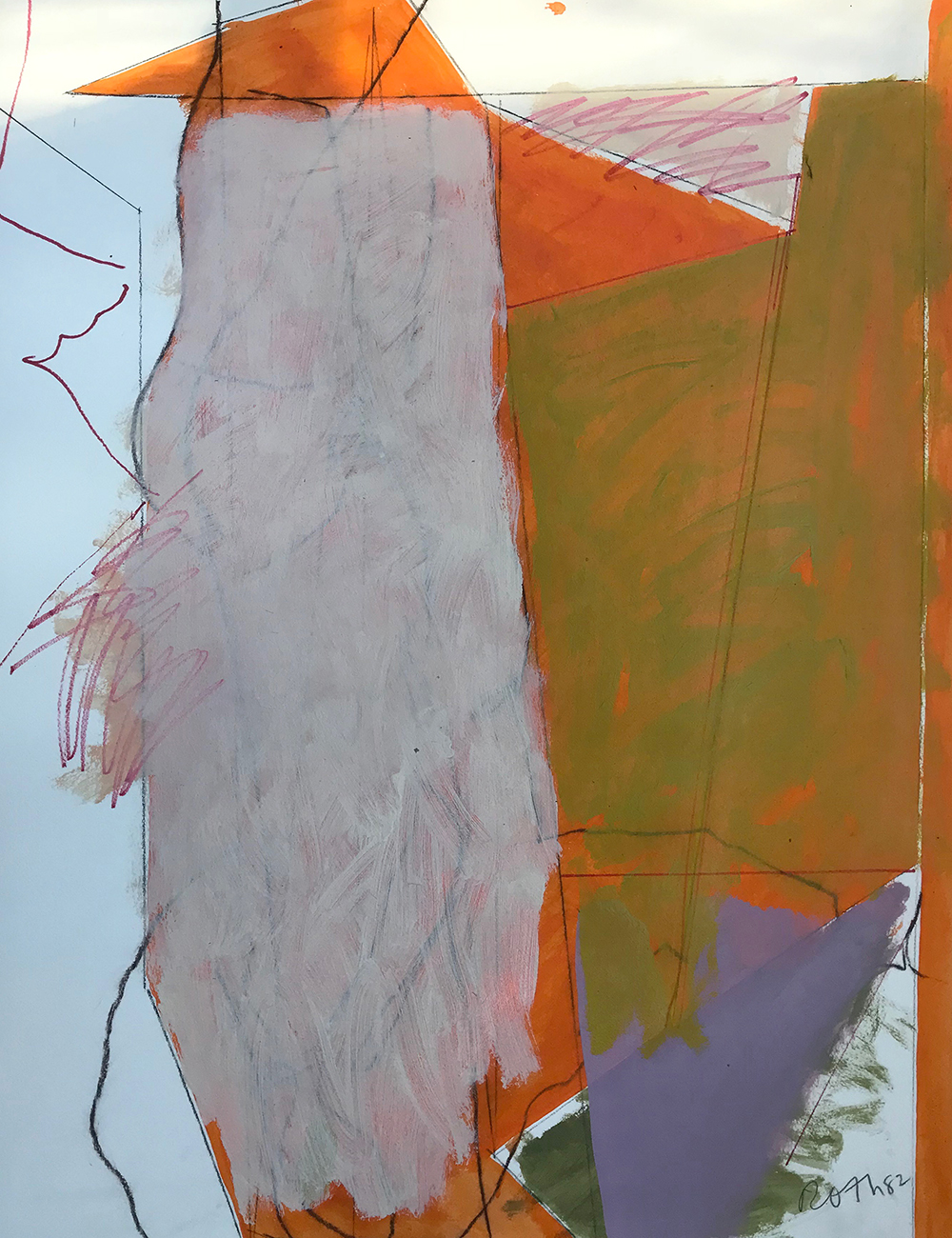 #2904 Untitled,   Acrylic and colored pencil on paper, 1982, 30 x 22 1/2 inches