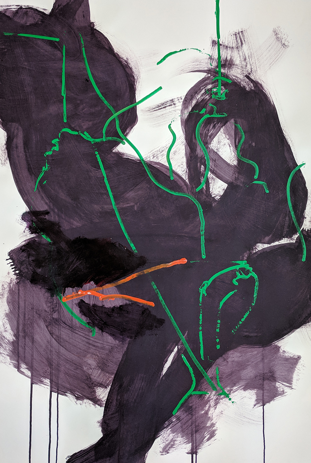 #1779 Untitled,   Acrylic on paper, c. 1980s, 44 x 30 1/2 inches