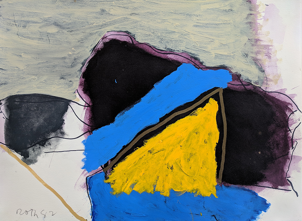 #3044 Untitled,   Acrylic and marker on paper, 1982, 23 x 30 1/2 inches