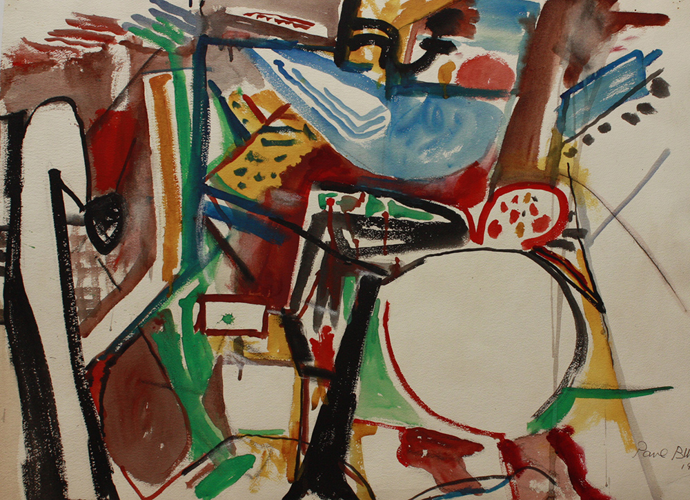 Untitled (Talk of What Was Not),   Watercolor on paper, 1953, 22 x 30 inches
