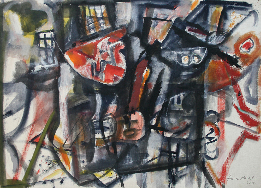 Untitled (A Walk in New York),   Watercolor on paper, 1953, 22 1/2 x 30 1/2 inches