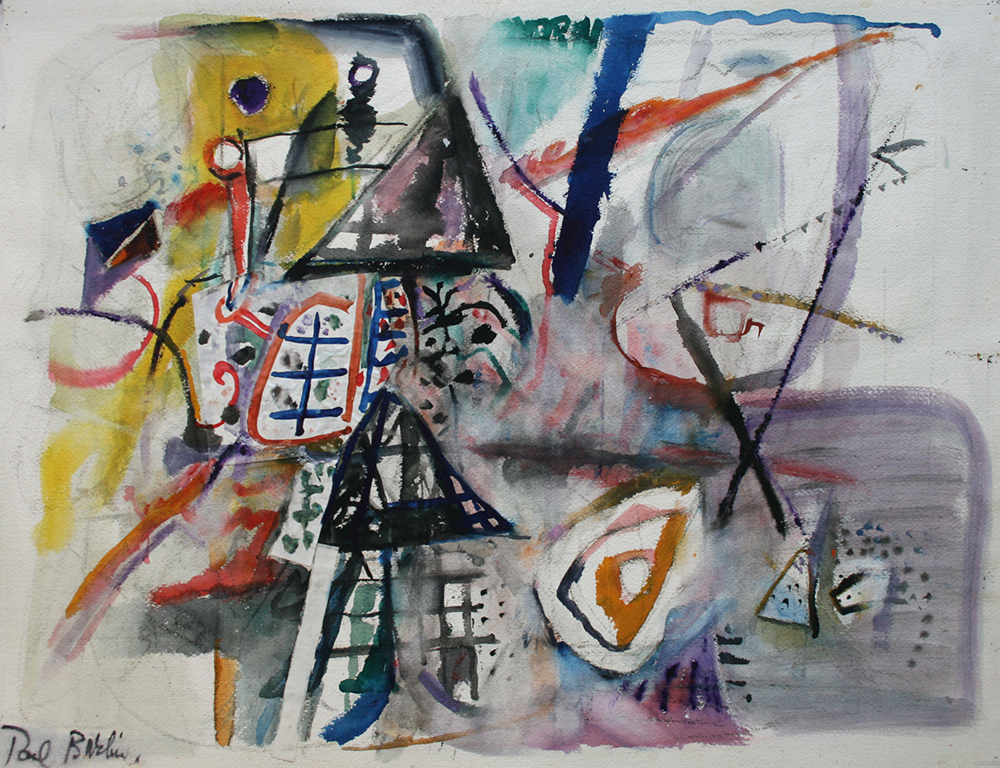 Untitled (Art Argument),   Watercolor on paper, ca. 1953, 22 x 30 inches
