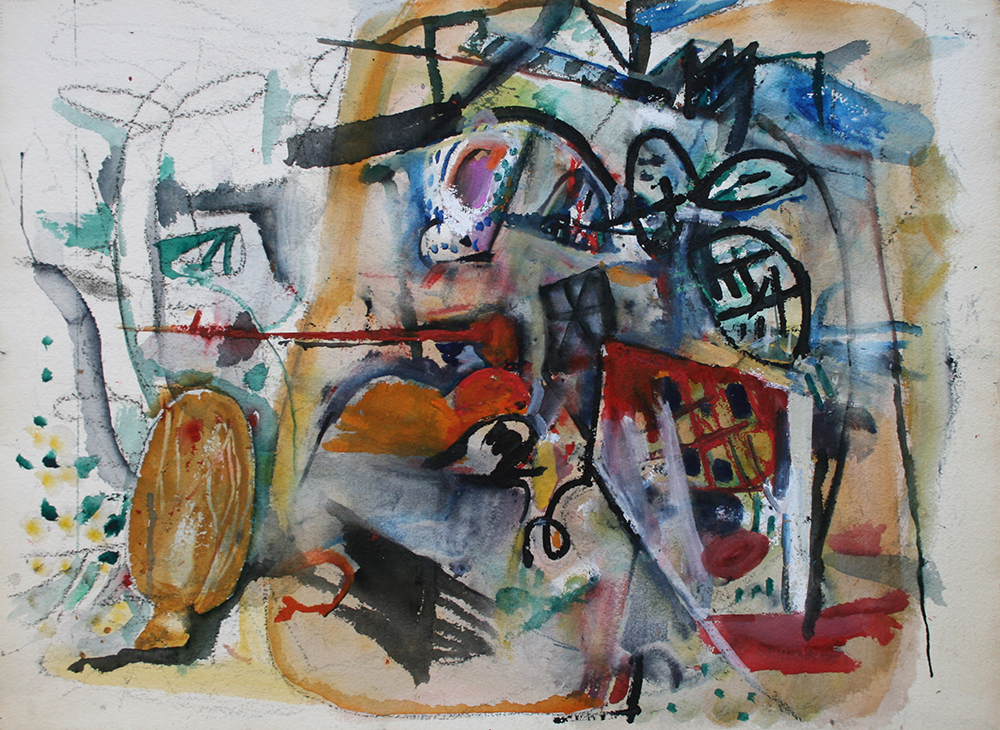 Untitled,   Watercolor on paper, ca. 1955, 22 x 30 inches