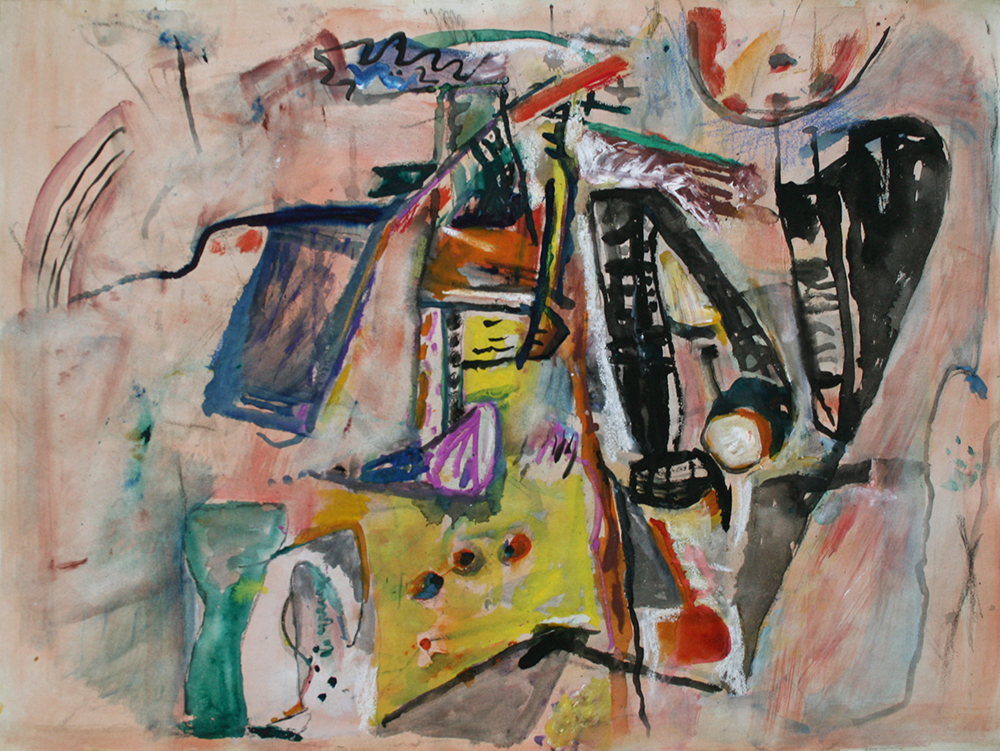 Untitled,   Watercolor on paper, ca. 1956-57, 22 x 30 inches