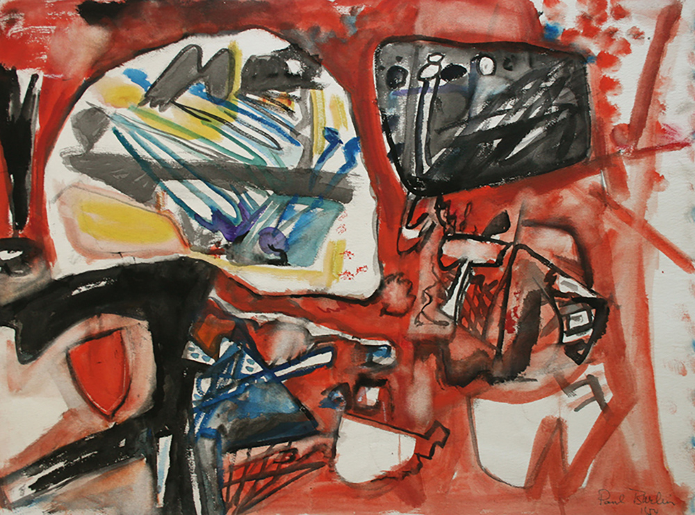 Untitled (Art Conservation),   Watercolor on paper, 1954, 22 x 30 inches