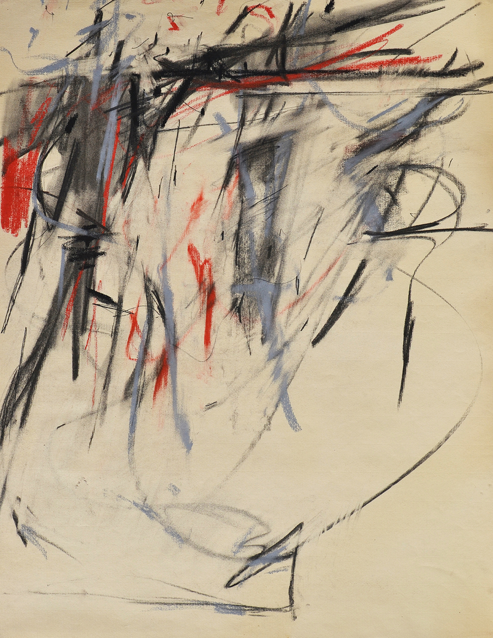#27, Untitled,   Pastel and charcoal on Ingres laid paper, c. 1955, 25 x 19 inches