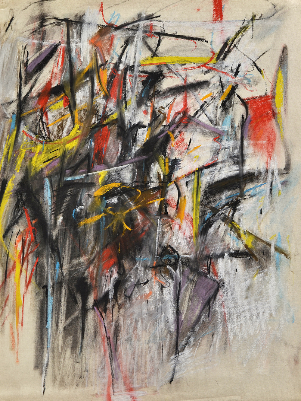 Untitled,   Pastel and charcoal on Strathmore laid paper, c.1955, 25 x 19 inches