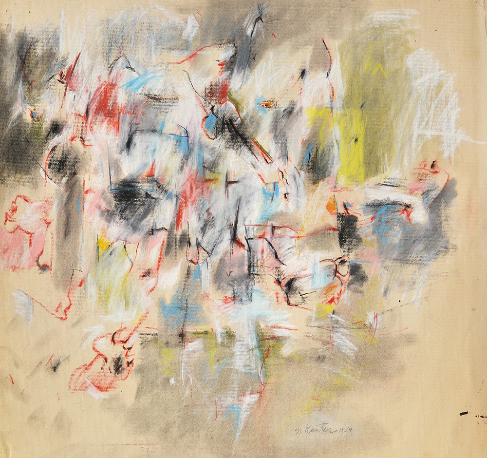 #25 Untitled,   Pastel and charcoal on Strathmore laid paper, 1954, 19 x 25 inches