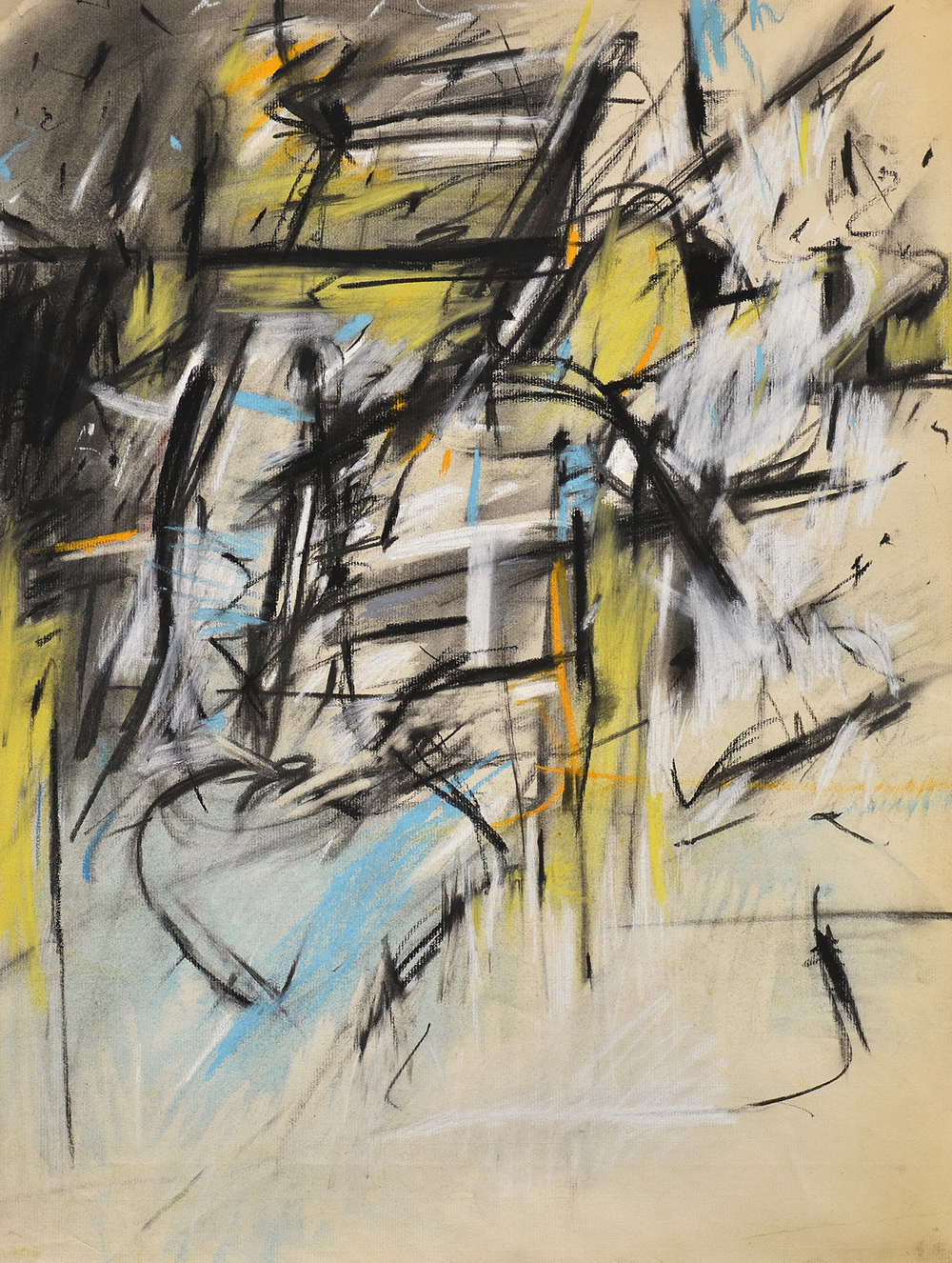 #29 Untitled  , Pastel and charcoal on Ingres laid paper,1955, 25 x 19 inches