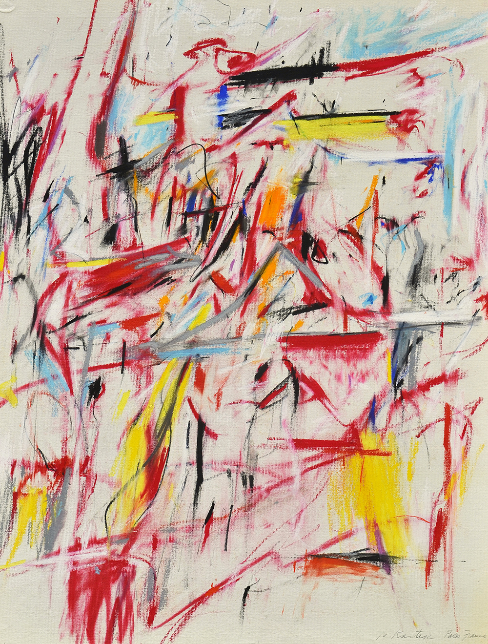 #43 Untitled  , Pastel and charcoal on Strathmore laid paper, 1958, 25 x 19 inches