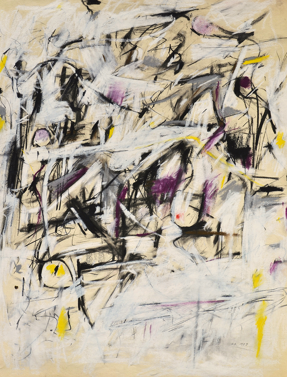 #26, Untitled  , Pastel and charcoal on Michallet laid paper, 1957, 25 x 19 inches