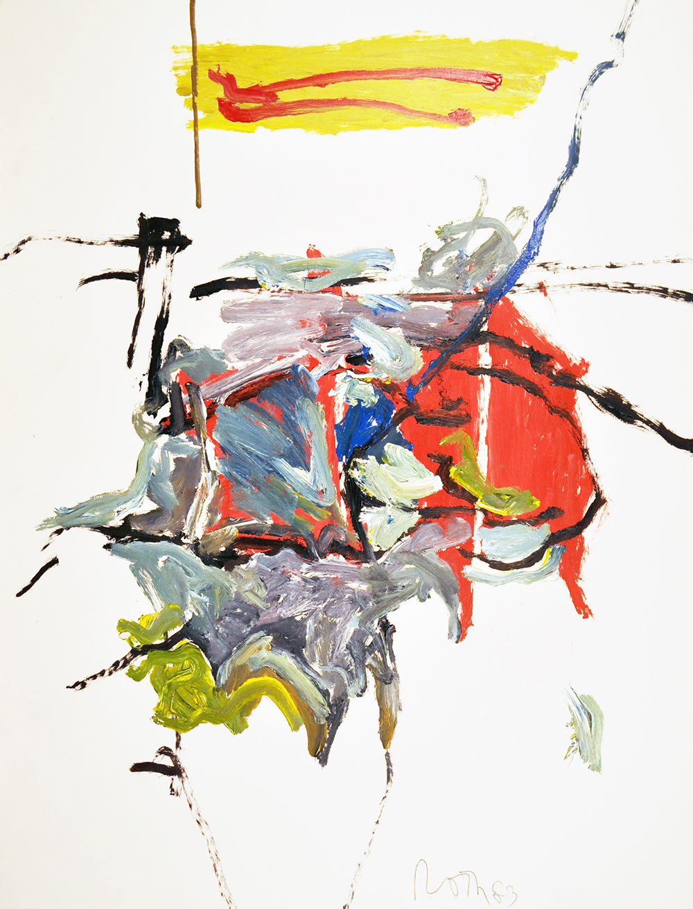 #495 Untitled,   Acrylic on paper, 1983, 50 x 38 1/2 inches