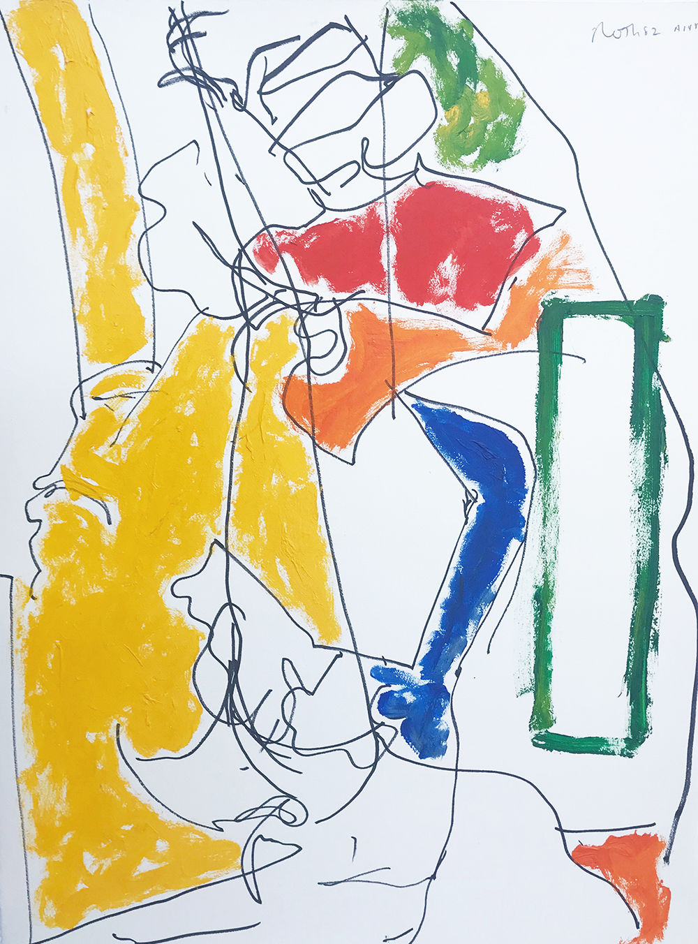 #3055  Untitled ,  Acrylic and marker on paper, 1982, 30 x 22 inches