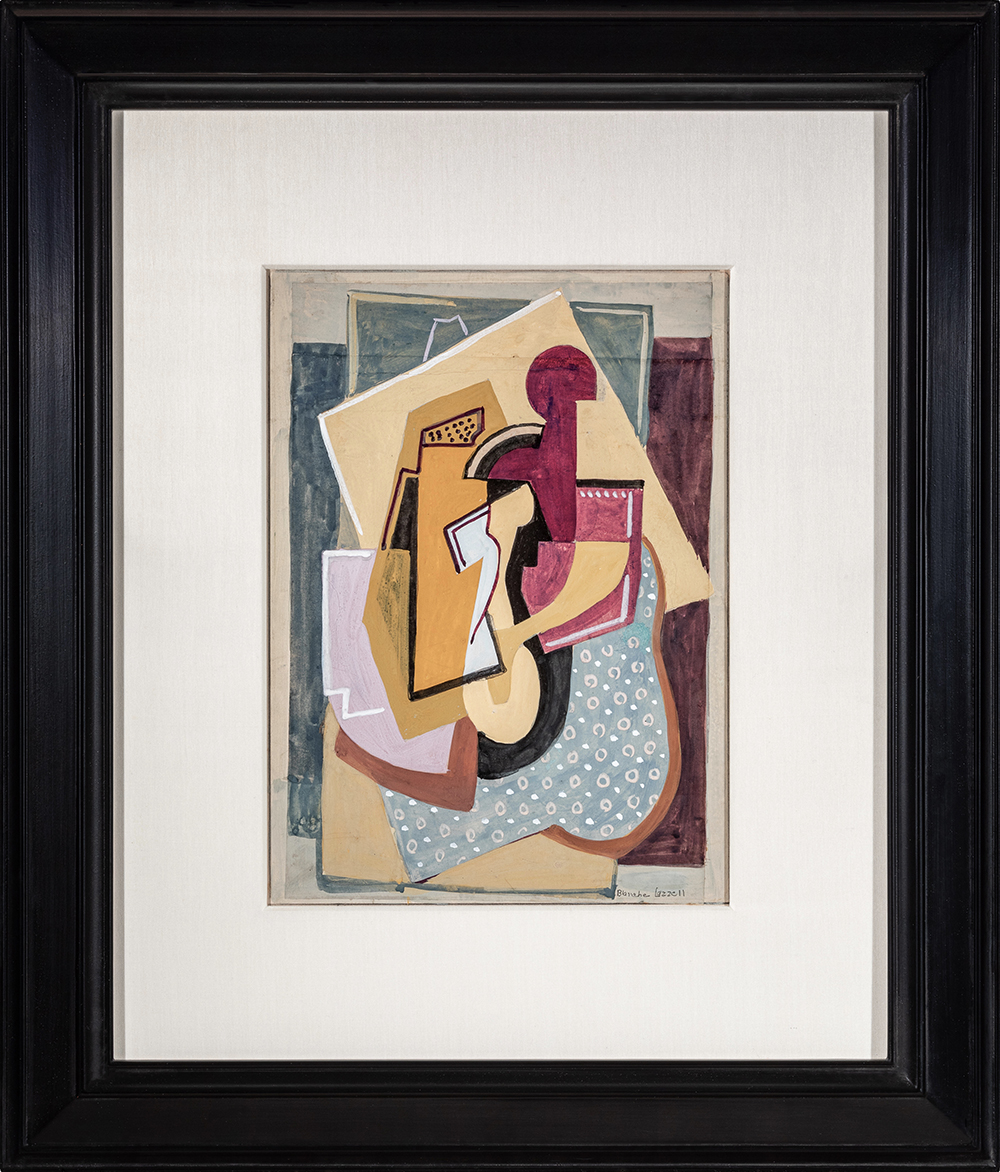 Abstract Composition No. 6  , Gouache on paper laid to illustration board , 1928, 15 1/8 x 10 5/8 inches