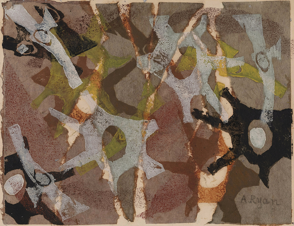 Untitled,   Mixed media collage on paper, 1951, 8 1/2 x 11 inches
