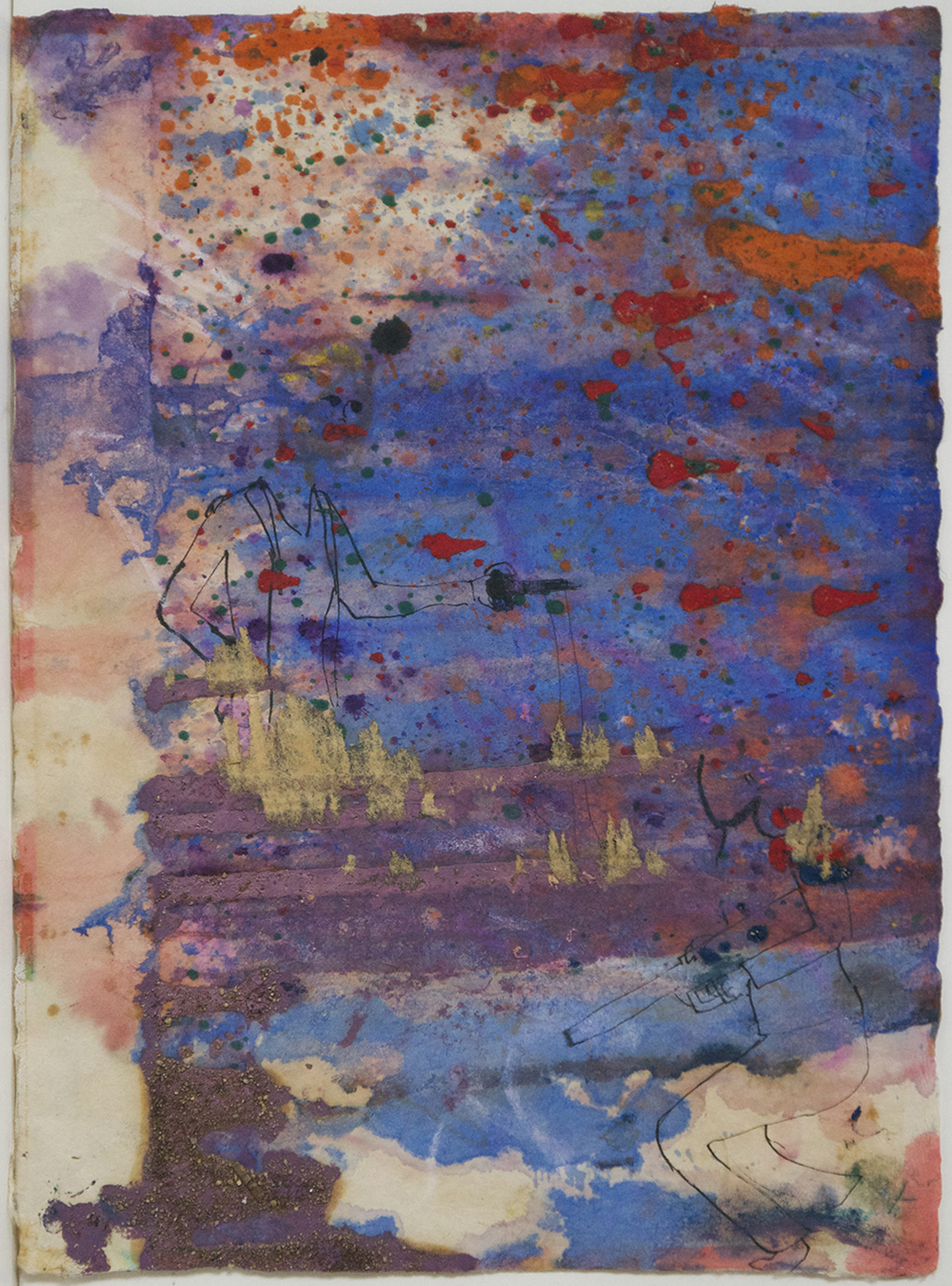 Untitled,   Watercolor on handmade paper, c. 1960, 16 x 12 inches