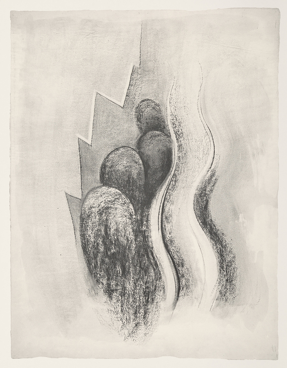Drawing Number 13,   1915, Lithograph on Rives BFK paper, 1968, 25 x 19 inches