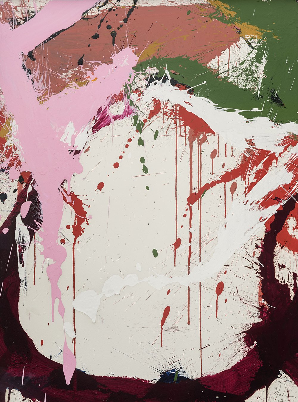 Untitled,   Acrylic on paper, 1967, 29 7/8 x 22 3/8 inches