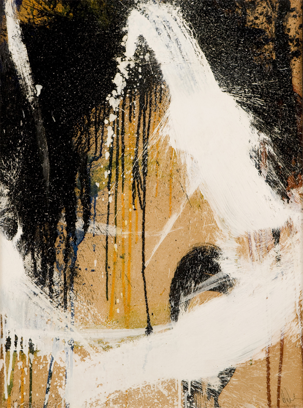 Untitled (Abstract Composition)  , Oil on board, 23 1/2 x 17 1/2 inches