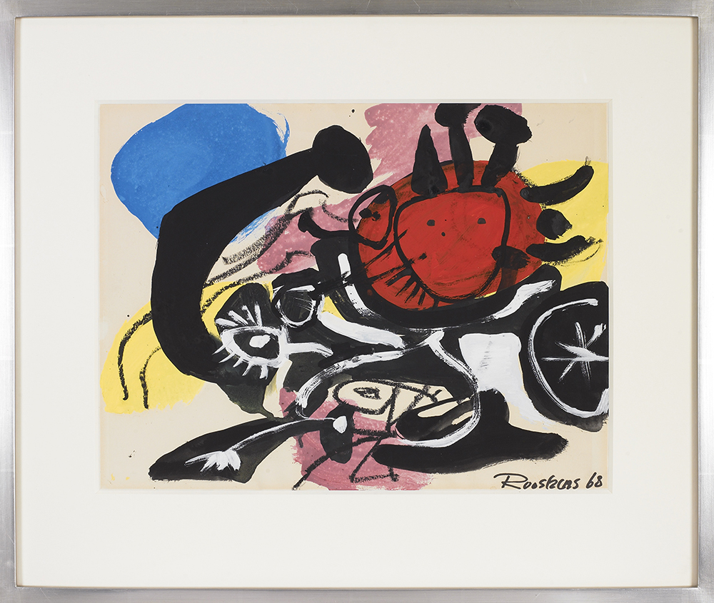 Untitled,   Gouache on paper, 1968, 12 1/2 x 16 1/2 inches