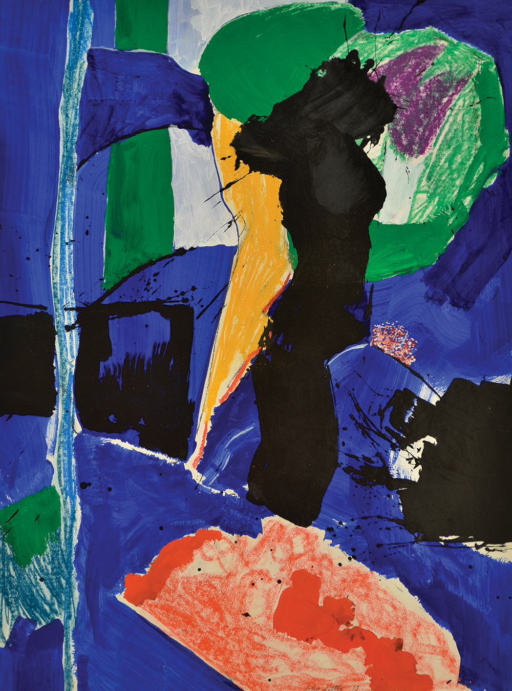 Untitled,   Mixed media on paper, 1977, 30 1/4 x 22 1/4 inches