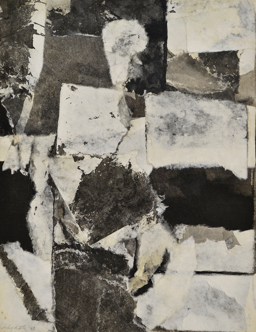 Untitled,   Collage with Douglas Howell paper and ink, 1962, 26 1/2 x 20 1/2 inches