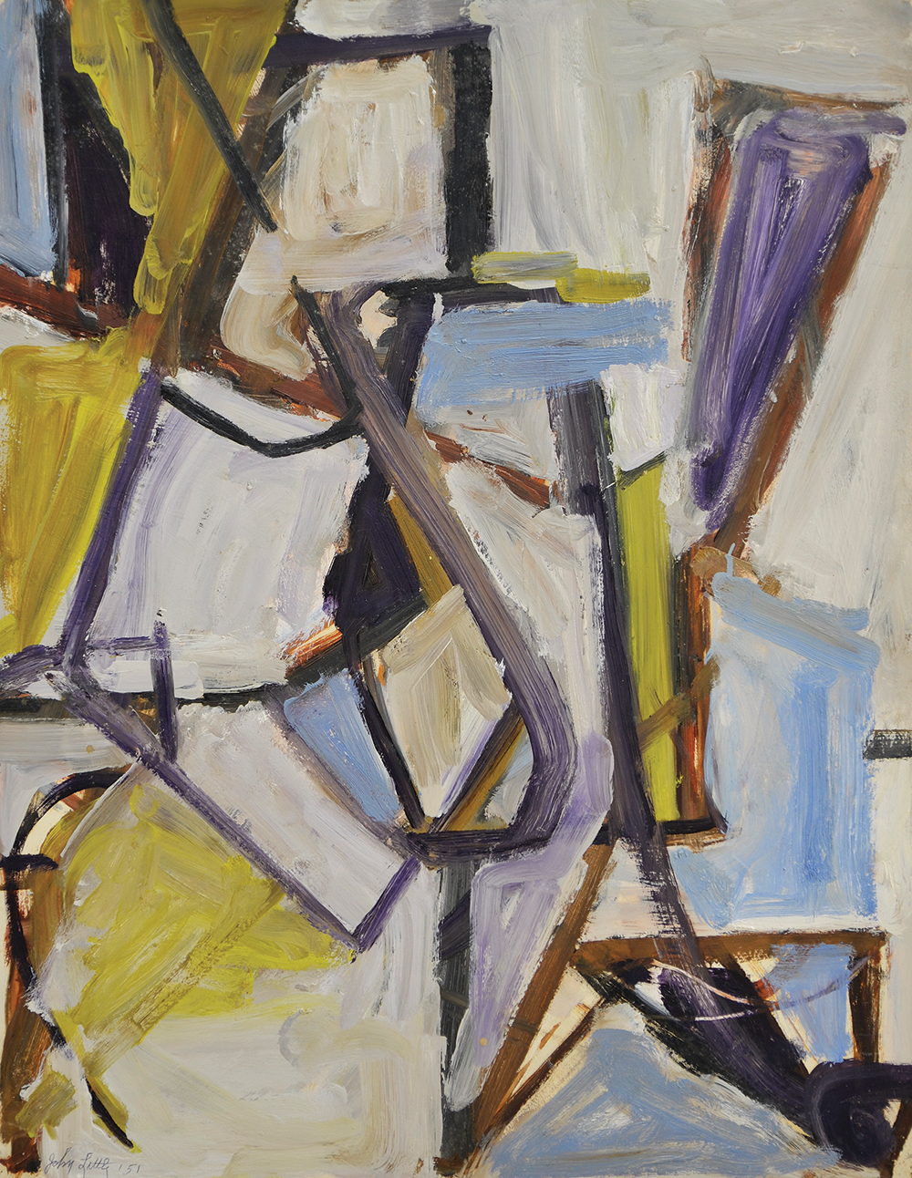 Untitled,   Oil on paper, 1951, 22 3/4 x 29 inches