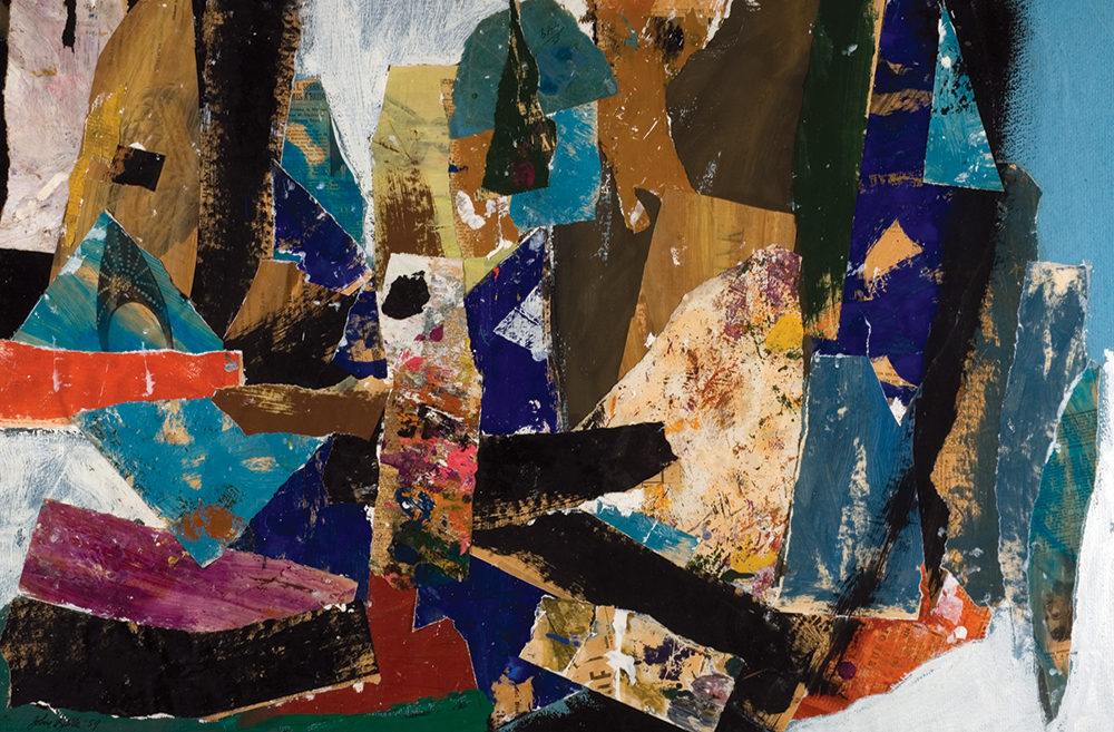 Untitled  , Oil and paper collage, 1959, 25 x 38 inches