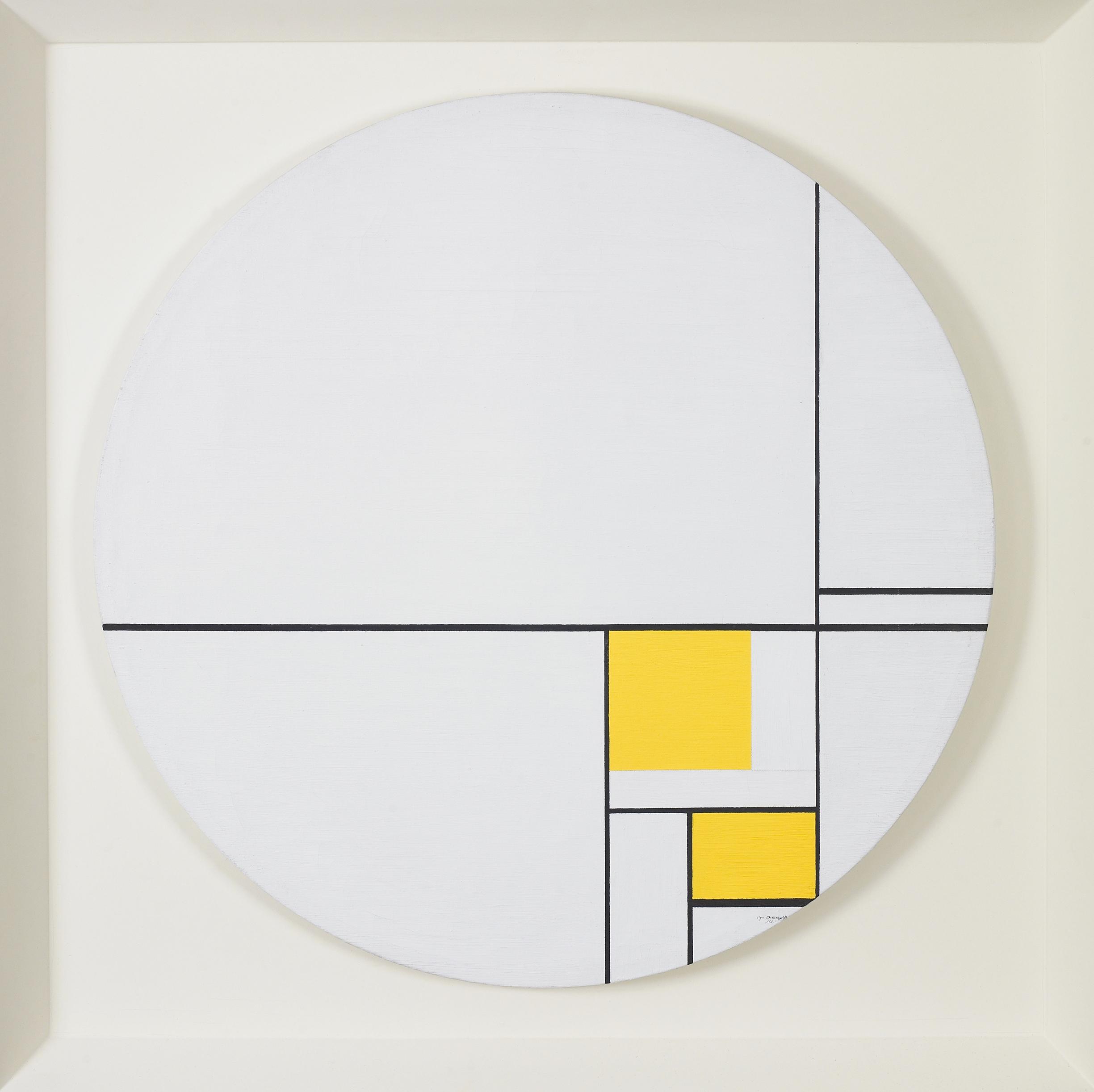 Pale Tondo  , Oil on canvas, 1961, 23 1/2 inch diameter