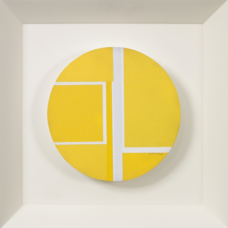 Yellow Tondo,   1971, Acrylic on wood, 7 3/4 inch diameter
