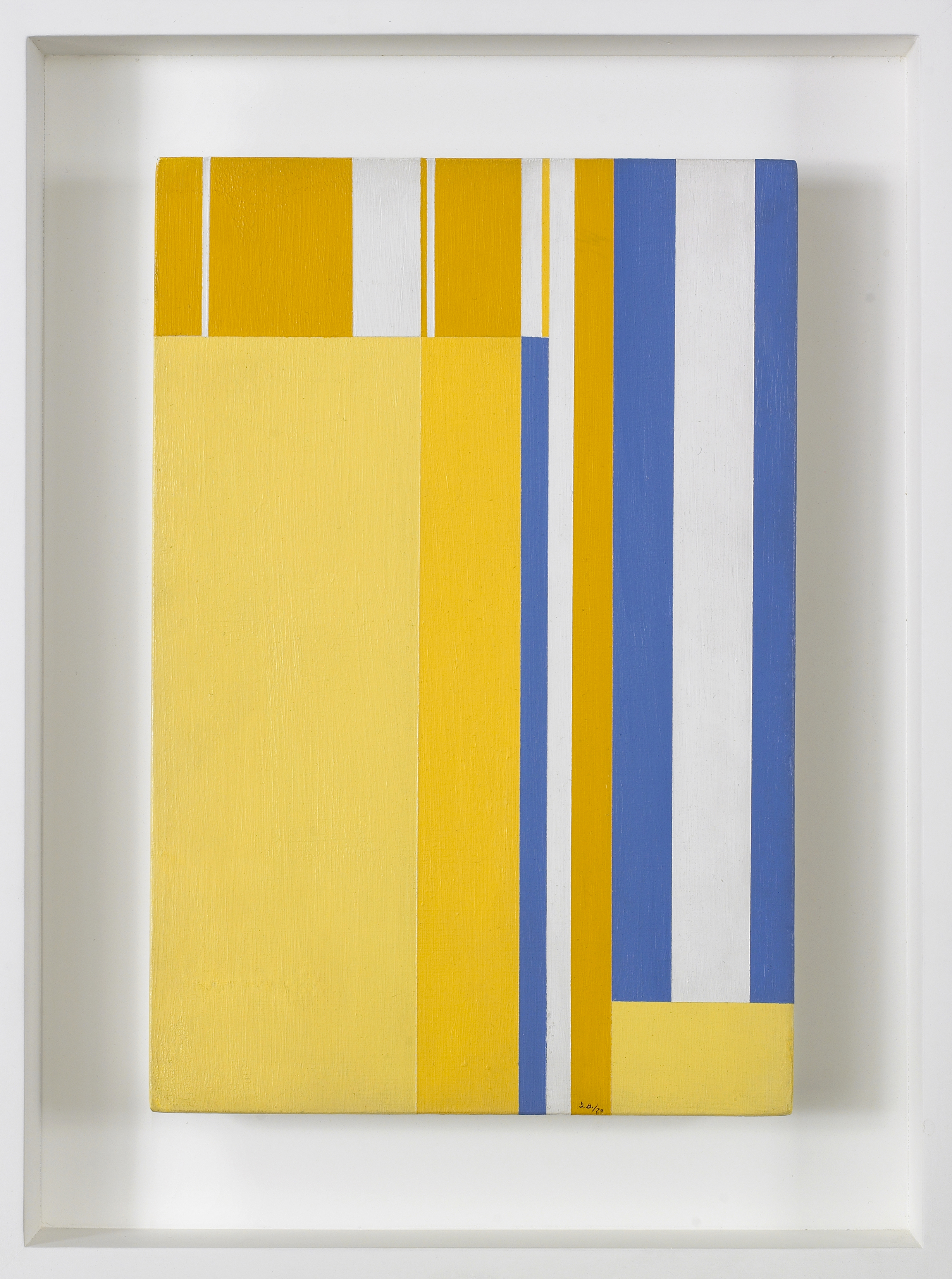 Three Yellows Vertical,   1970, Acrylic on wood panel, 12 x 8 inches