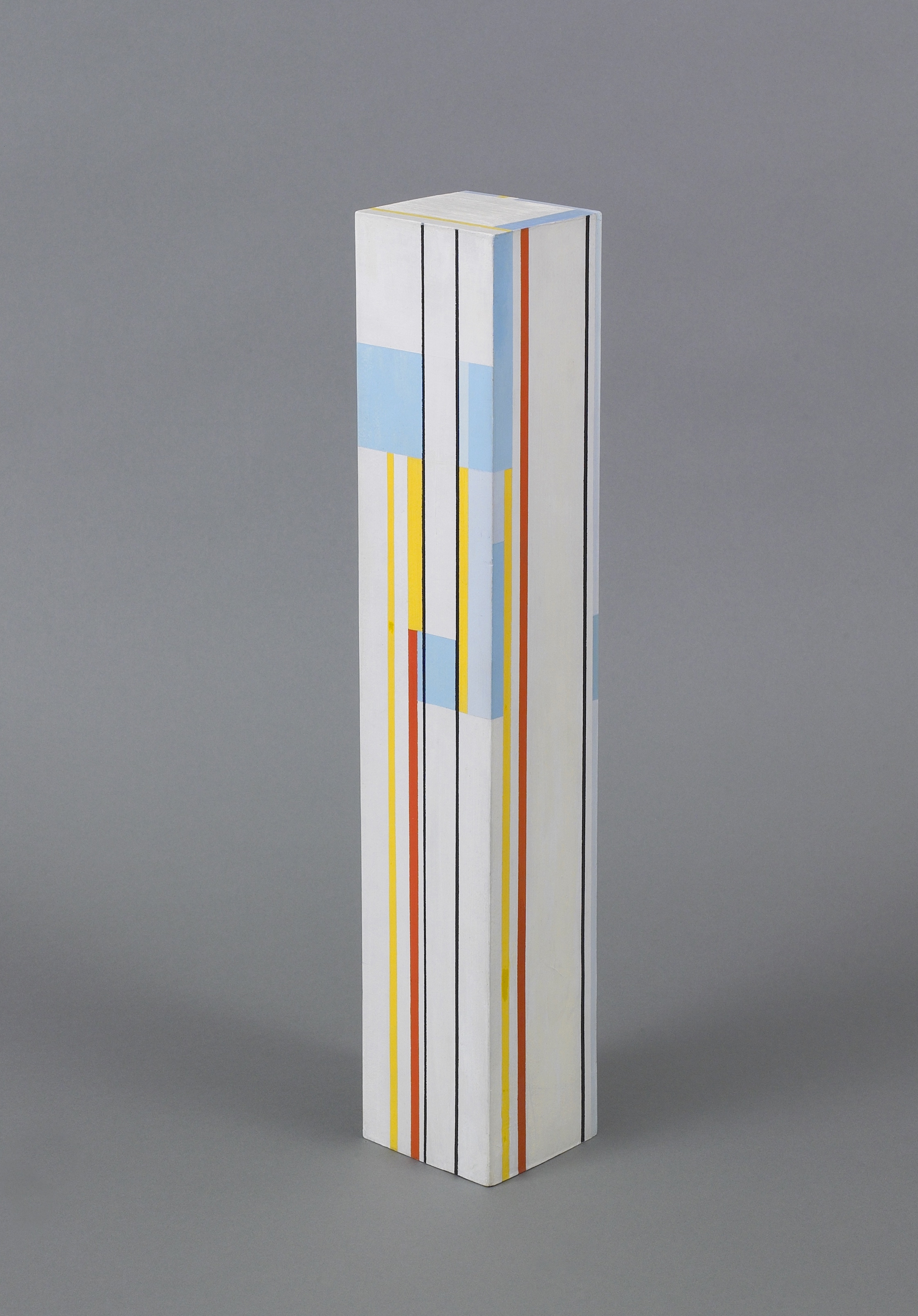 Column #11,   1963, Acrylic on wood, 18¼ by 3¼ by 3¼ inches