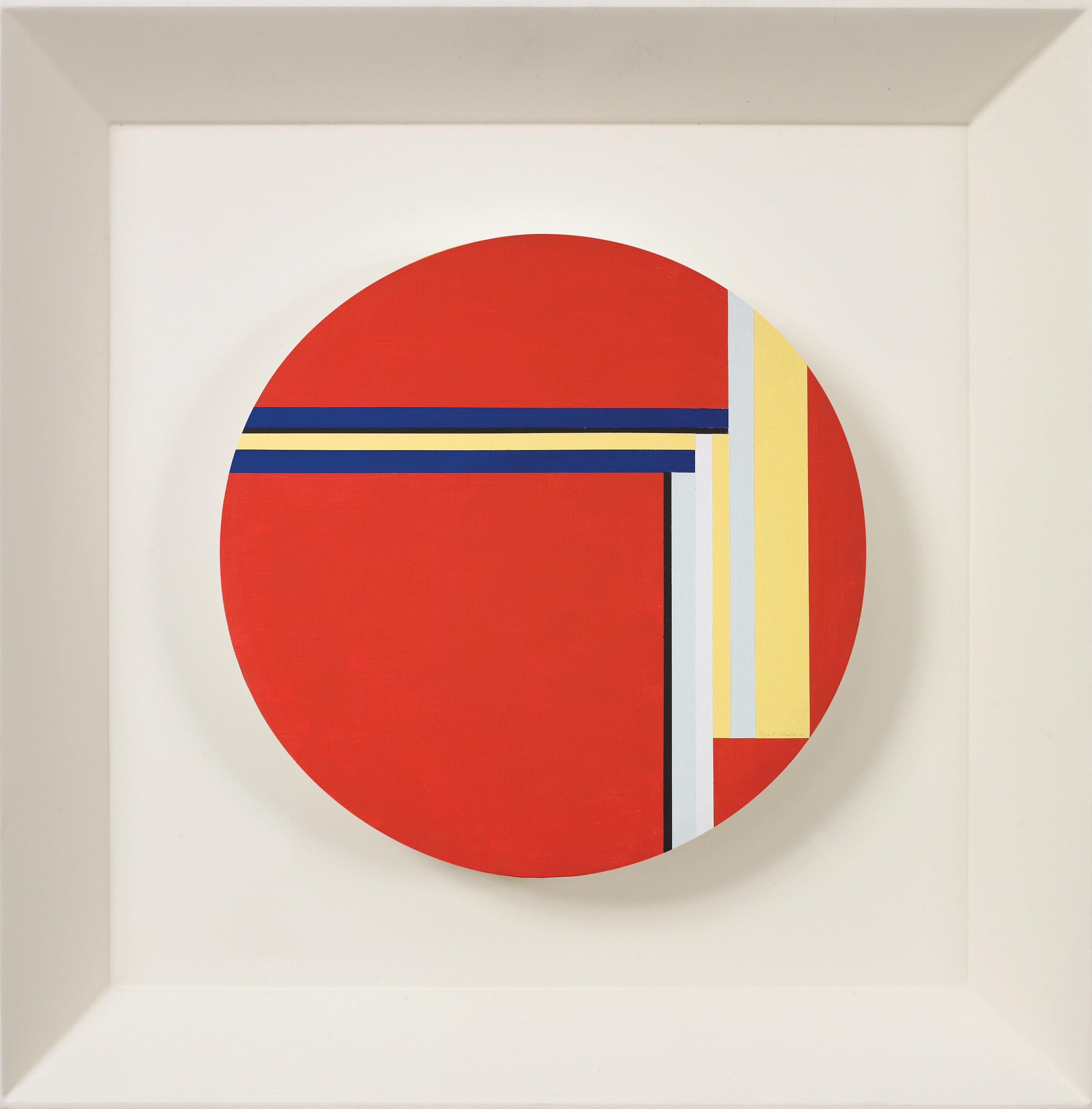 Red Tondo,   1977, Oil on canvas, 20 inch diameter