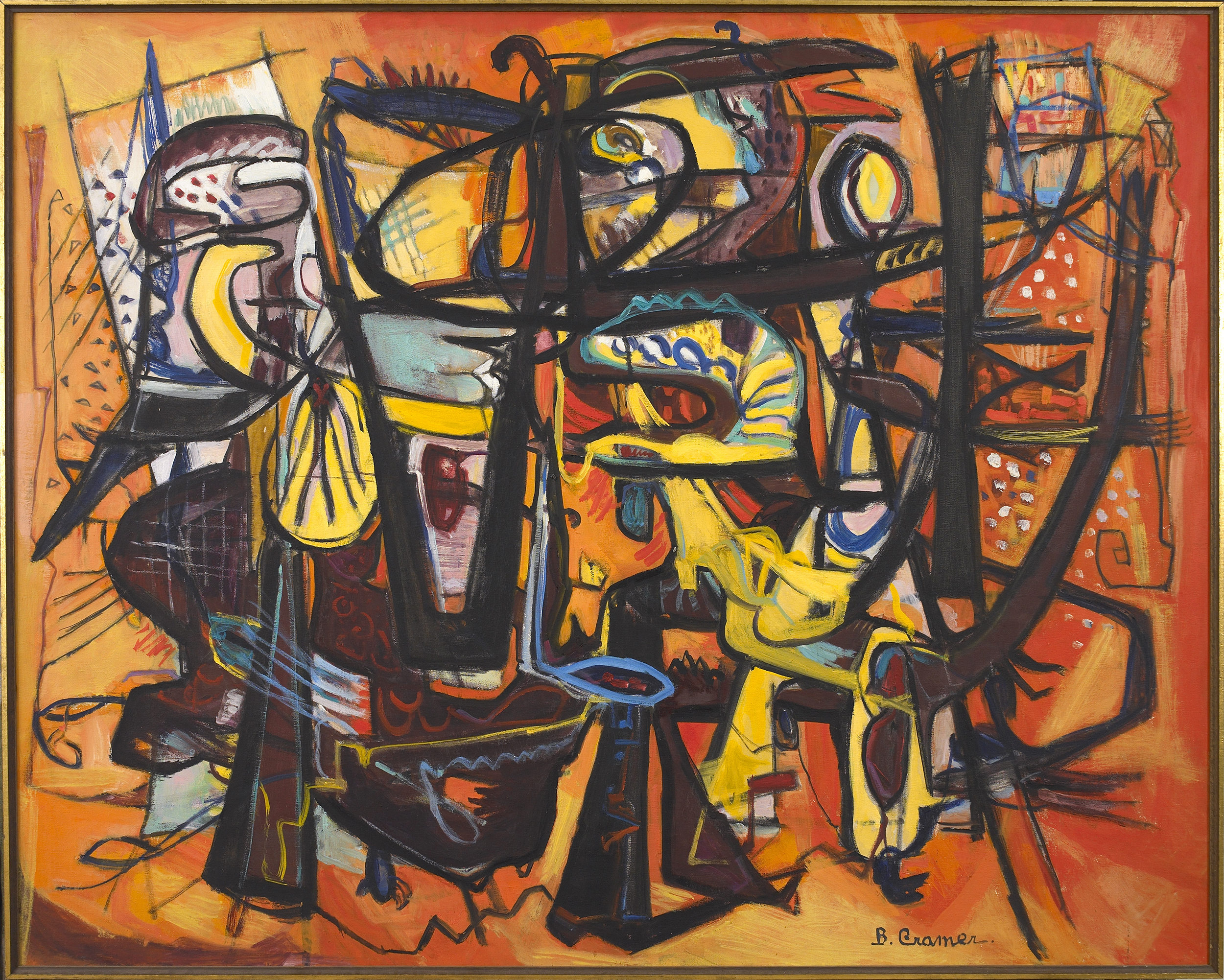 Conflict  , 1958, Oil on canvas, 40 x 50 inches
