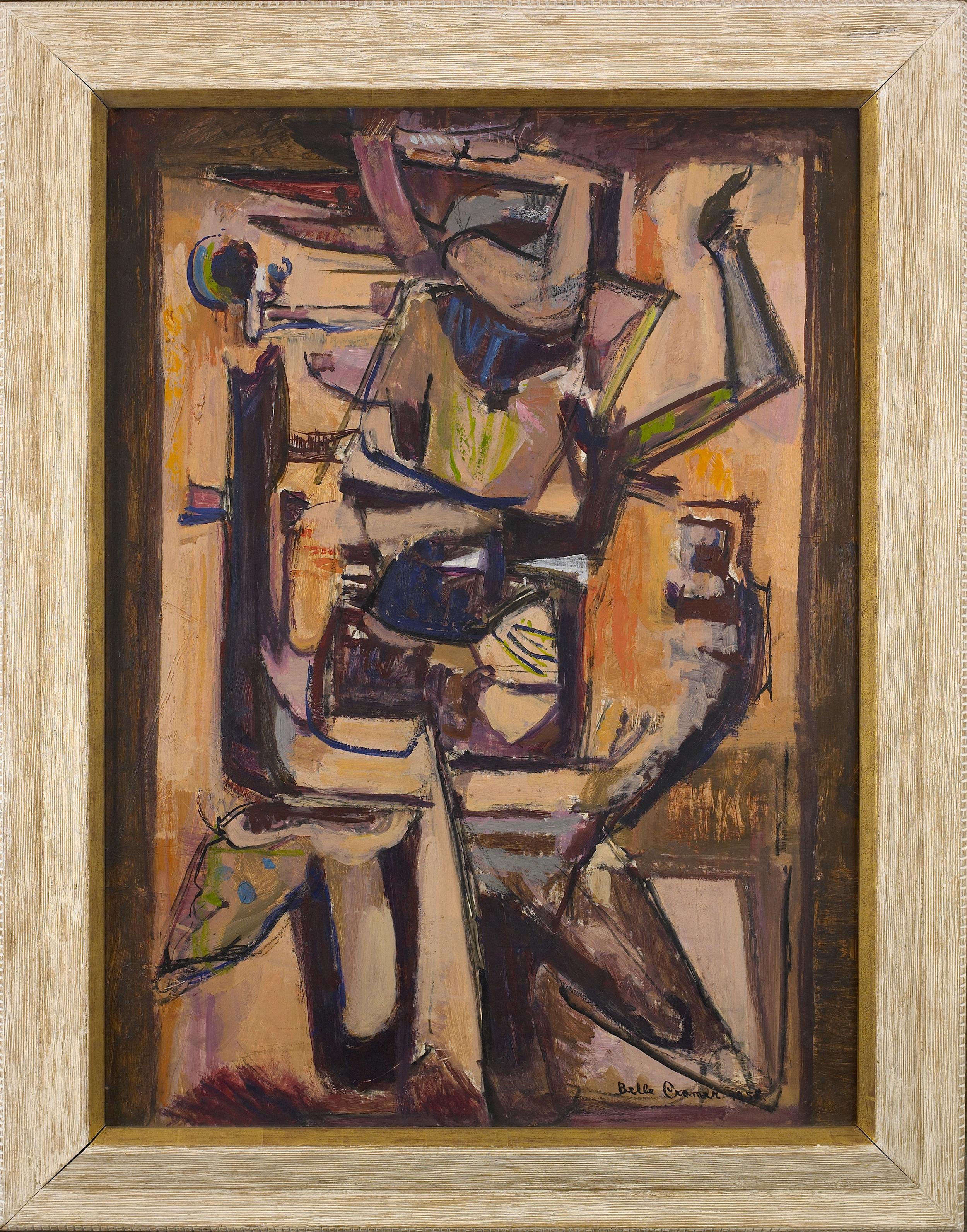 Enigmatic Dancer,   1958, Oil on masonite, 40 x 30 inches