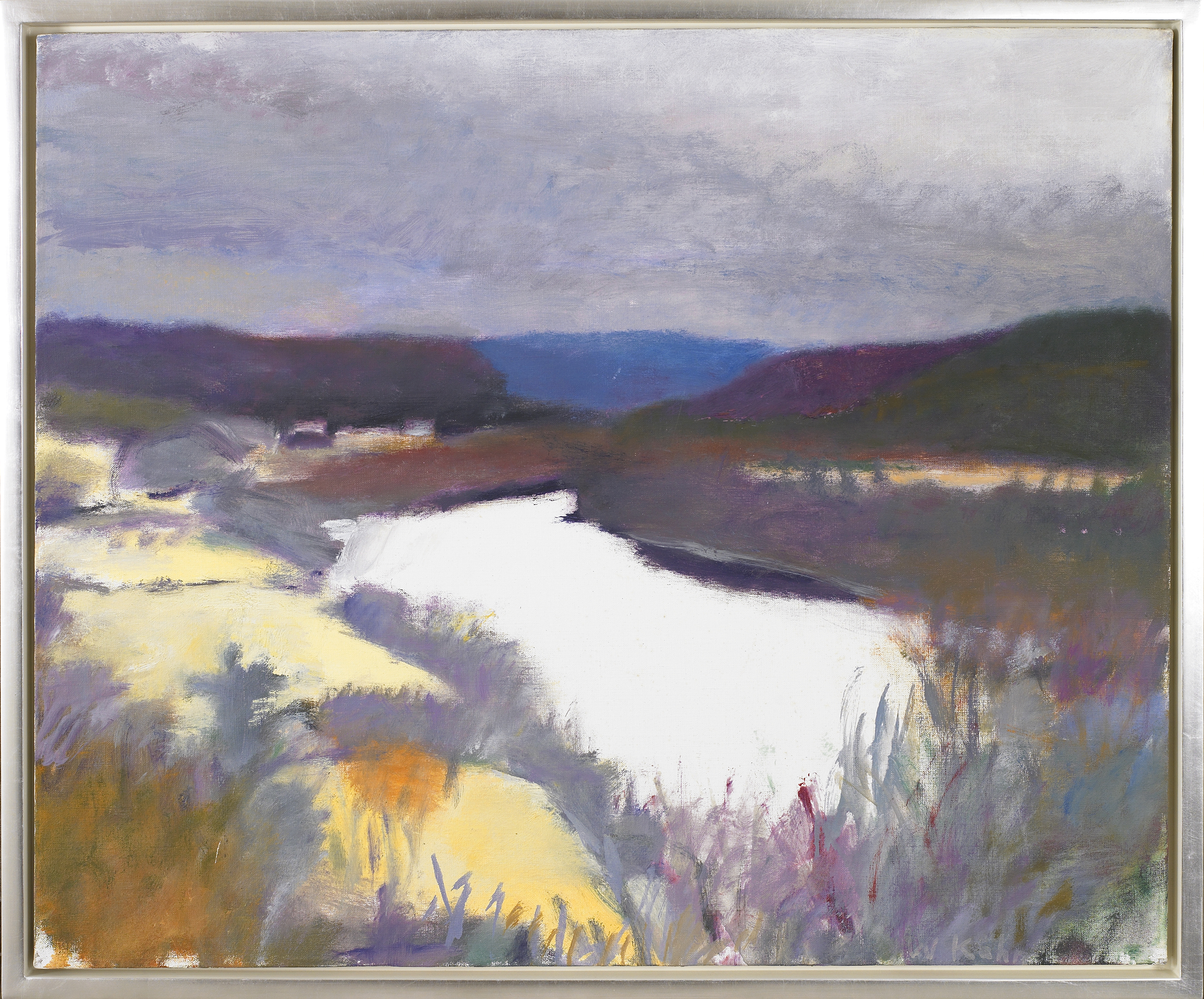 Bend in the River  , Oil on canvas, 26 x 31 inches