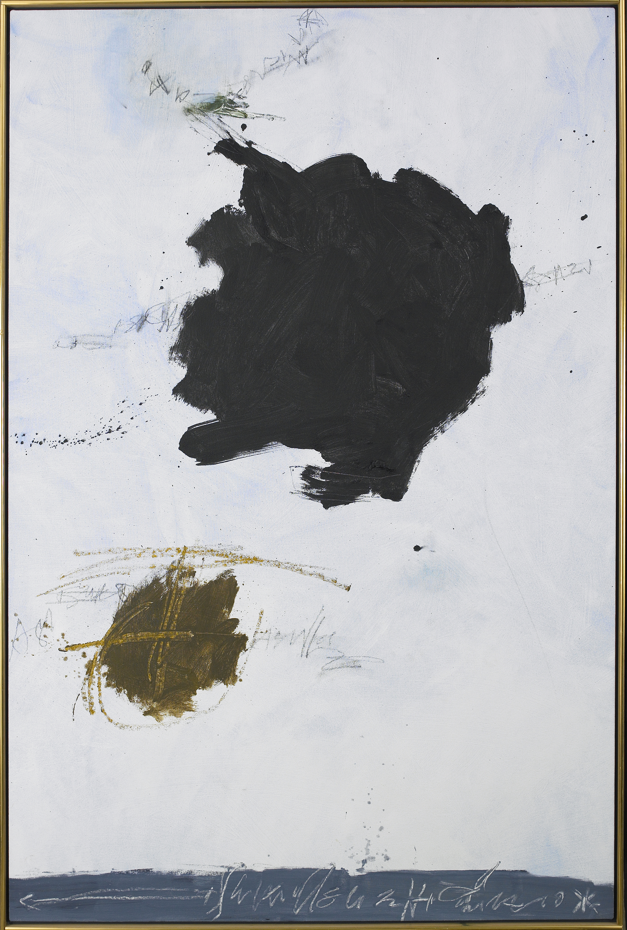 Moors-Moon,   1993, Oil on canvas, 59 3/4 x 39 1/2 inches