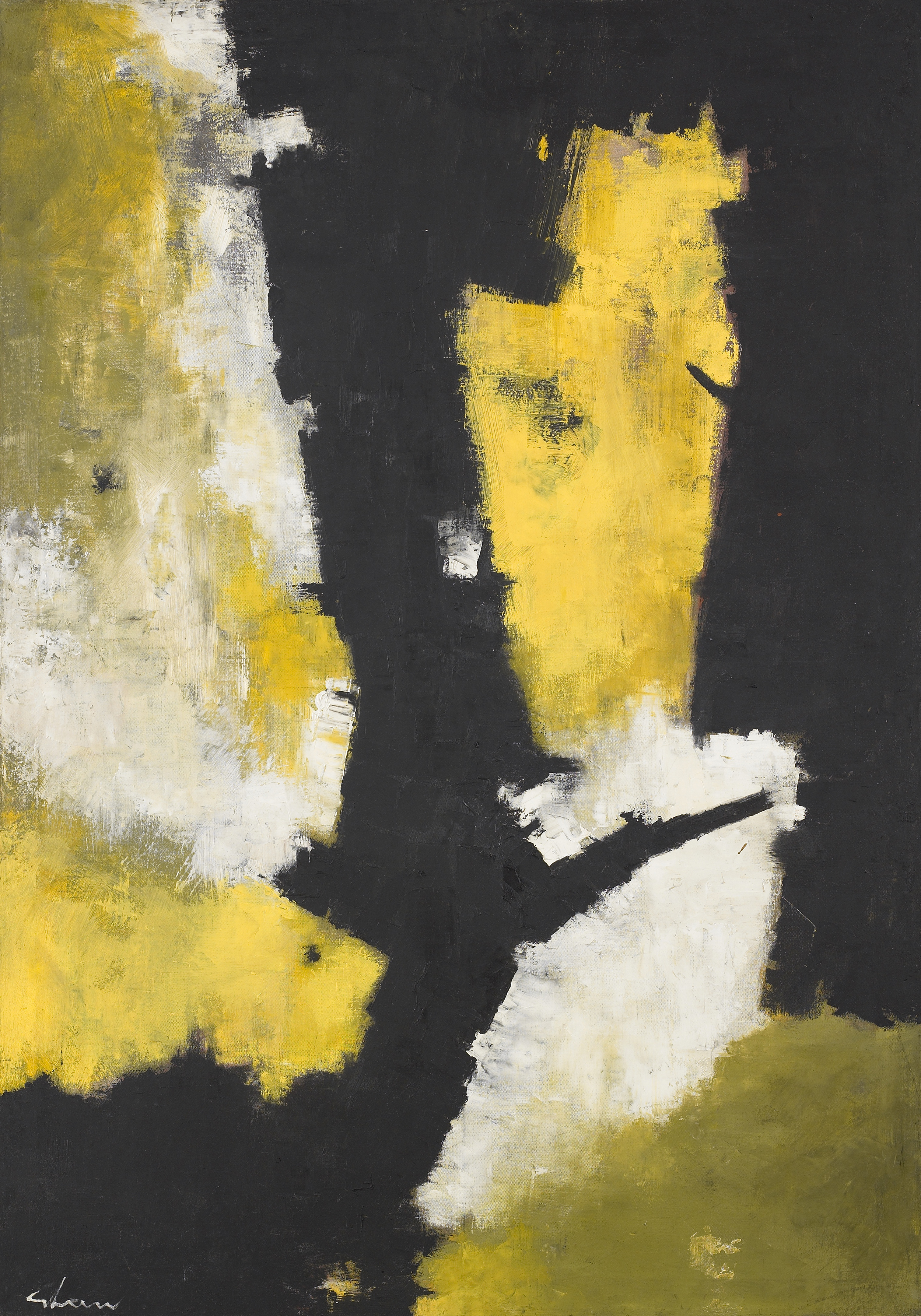 Root Symbol  , 1959, Oil on canvas, 48 x 32 inches