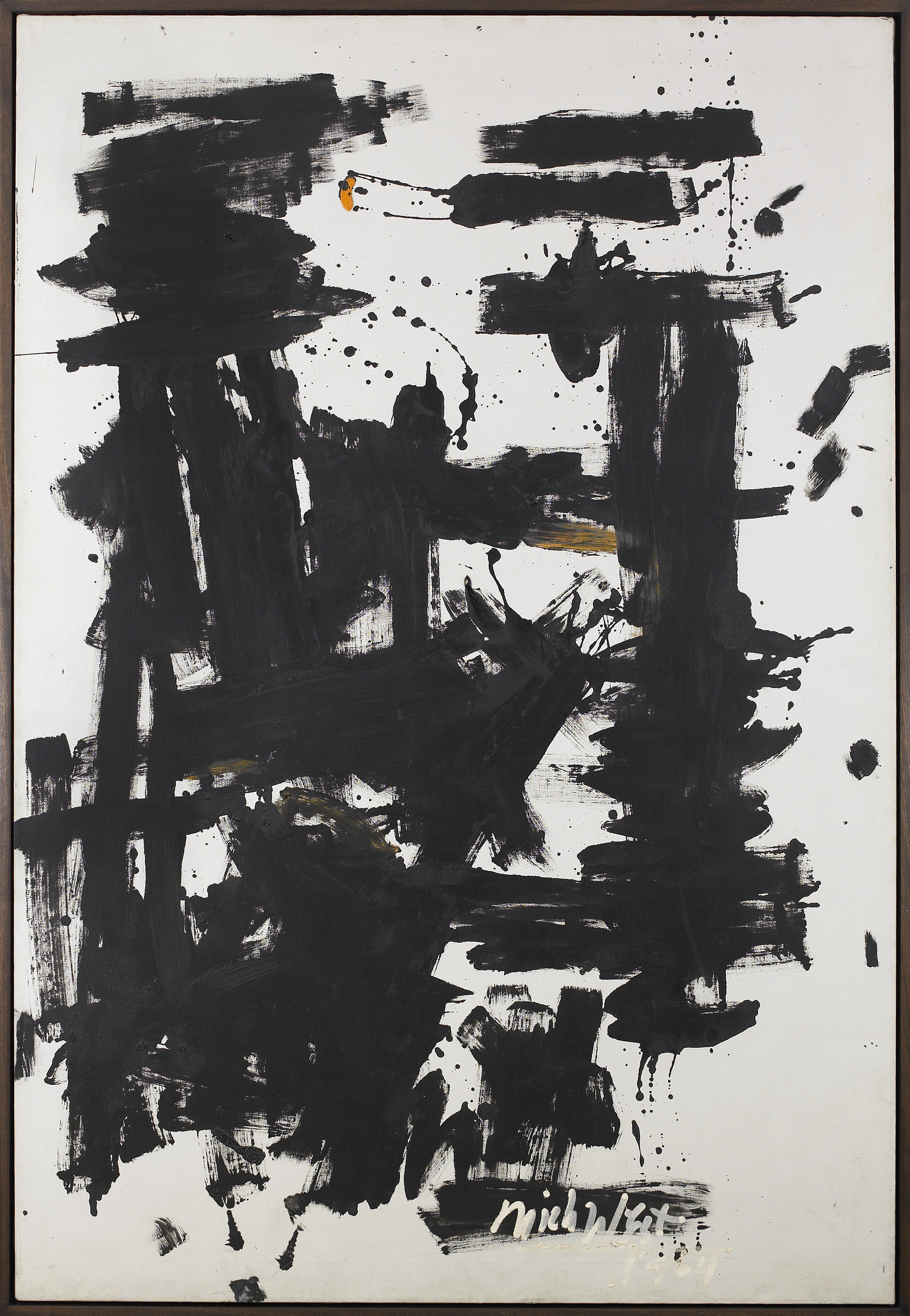 SOLD  June 1964,   Space Study (Good Morning), 1964, Oil on canvas, 75 1/2 x 50 3/4 inches