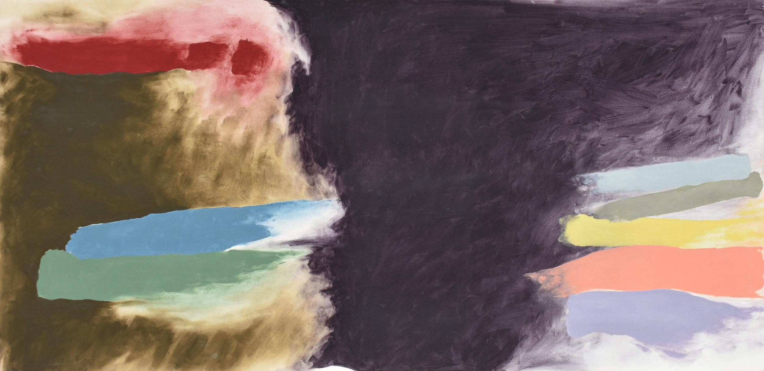 Borgia ,  Acrylic on canvas, c. 1979, 56 x 115 inches