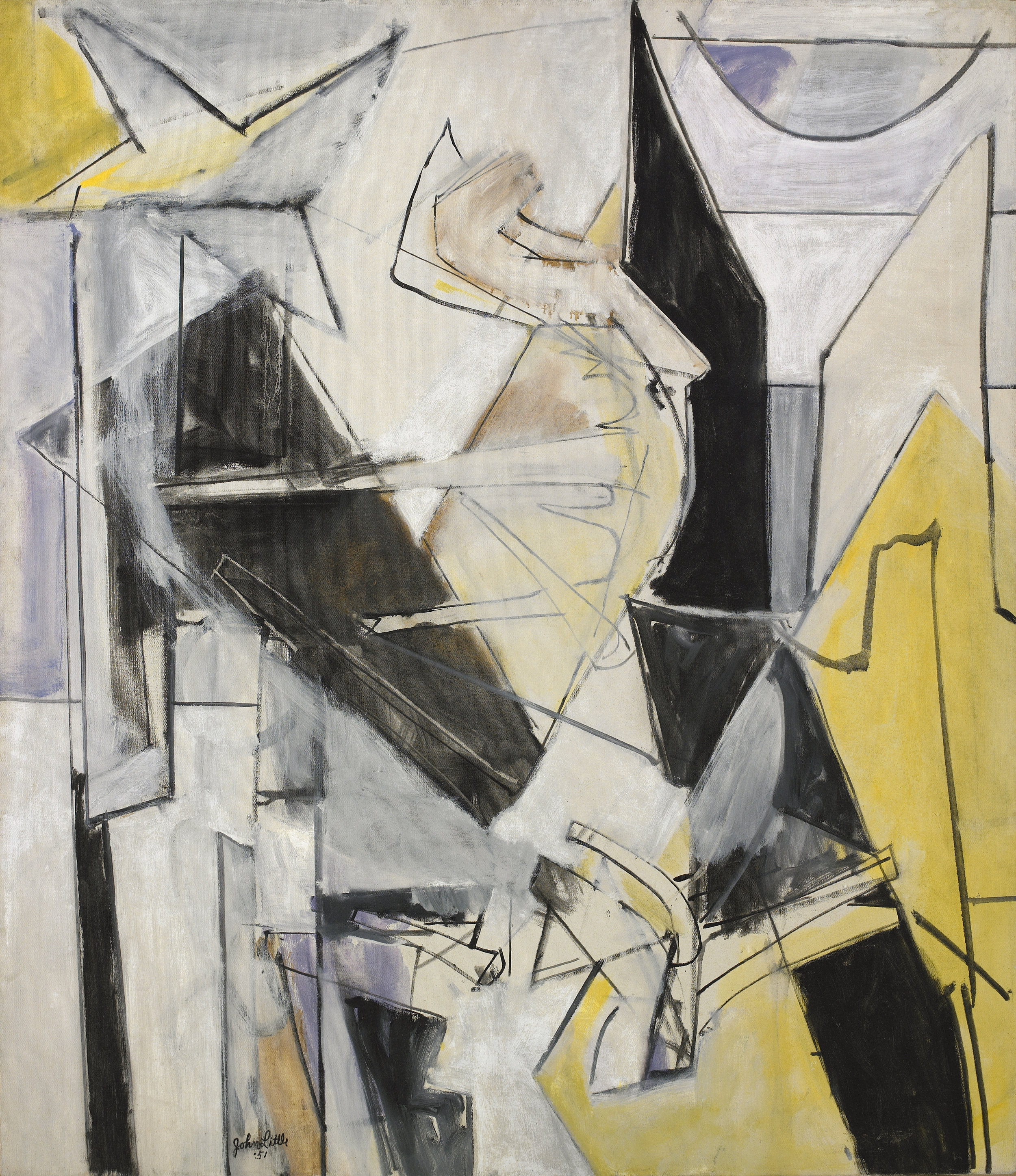 White Silence , Oil on canvas, 1959, 42 x 36 ⅜ inches